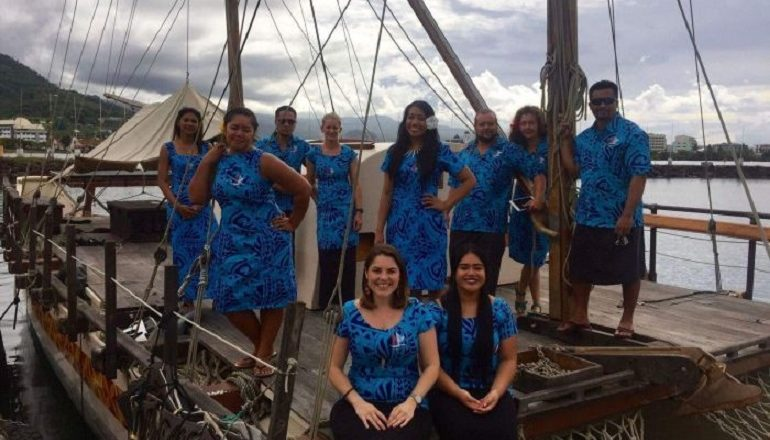 "Gaualofa crew onboard before premiere of Disney's ""Moana"""